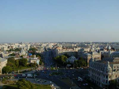 Bucharest from the hotel